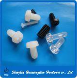 Weißer schwarzer runder Wannen-Kopf-Nylonplastikschraube