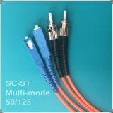 Cuerda de remiendo óptica competitiva de fibra del St-Sc del surtidor