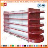 Aménagement principal rond d'étalage de gondole de supermarché d'étagères de mur en métal (Zhs421)