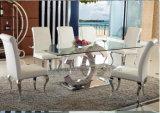 2016 de Moderne Hoogste Eettafel van het Glas met het Metaal van de Kwaliteit