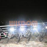 再充電可能なヘッドランプ、LEDのヘッドライト、ヘッドライト、防水バイクのヘッドライト