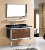Cabina montada en la pared moderna europea de la vanidad del cuarto de baño de dos puertas
