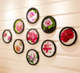 Frames de madeira decorativos redondos de parede de suspensão