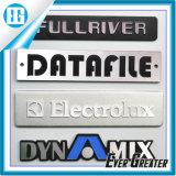 Escritura de la etiqueta de aluminio auta-adhesivo de encargo de la etiqueta engomada, escritura de la etiqueta de aluminio