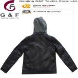 Chirdren PU取り外し可能なPlacketのフードの安全冬のジャケット