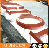 Edelstahl des Spiegel-3D fertiger Backlit LED kennzeichnet Metallzeichen-Firmenzeichen