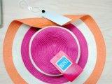 Chapéu do Fedora da palha das crianças tropicais da forma para o verão