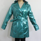 Adult를 위한 PU Blue Hooded Raincoat