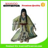 中国の古代石器の女性の彫刻