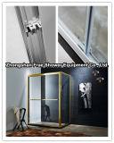 Cerco dourado do chuveiro do frame da liga de alumínio/banheiro do chuveiro