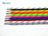 Rec. Negro de la cera del grado cordones del hockey de la hierba de 96 pulgadas