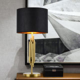 Iluminação moderna da lâmpada de tabela da mesa de Elgance, terminada no ouro para o quarto