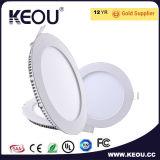 Voyant mince enfoncé Downlight enfoncé par LED LED Downlights léger