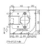 Ventilateur d'écoulement transversal à C.A. 220V pour BGA