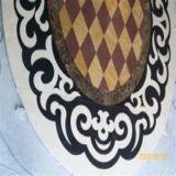 Het vierkante Marmeren Waterjet van het Ontwerp van Tegels Patroon van de Vloer van het Medaillon
