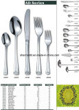 72PCS de prata Stainless Steel Cutlery Set