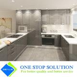 Alta mobilia degli armadi da cucina di rivestimento della lacca di lucentezza di nuovo colore grigio fresco (ZY 1059)