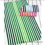 ジャカードベロアの縞浜毛布のビーチタオル