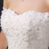 A - линия с платьев венчания шнурка плеча вышитый бисером (SL033)