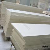 アクリルの人工的な石造りの白い樹脂の石の固体表面