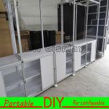 Nuevo diseño, venta caliente, cabinas de aluminio de la feria profesional, visualización publicitaria reutilizable portable