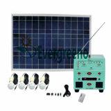태양계를 비용을 부과하는 태양 전지판 및 램프 이동 전화를 포함하여 태양계
