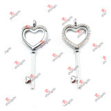 Love Gifts (HKL50814)를 위한 형식 Customized Alloy Heart Key Lockets
