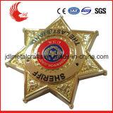 Польза сувенира и материал металла выгравировали 5 воискаа значка звезды