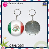 Zinnblech Badge Keychain mit Client Brand Small Order Accept