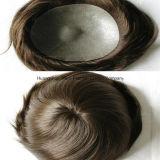 """8 """" V-Schlangen eingespritzte Toupee-unsichtbare Knotenmens-Haarpflegemittel"""