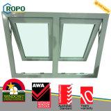 UPVC 차일 Windows 오스트레일리아 기준을 이중 유리를 끼우는 Ropo