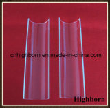Plaque personnalisée transparente de feuille en verre de quartz d'arc d'espace libre de résistance thermique