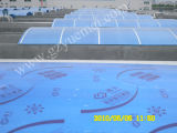 4m m, 6m m, 8m m, hojas gemelas del material para techos del policarbonato de la pared de 10m m