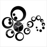 Horloge de mur acrylique classique de Rubian - noir