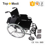 Quick Relese Rear Wheel를 가진 Topmedi Manual Steel Wheelchair