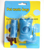 Sacchetto di plastica di Poop dell'animale domestico del cane dell'HDPE del sacchetto residuo dell'animale domestico