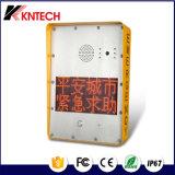 Knzd-33 VoIPの緊急の電話、声の電話との黄色いカラーHandfree
