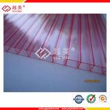 Doppel-wandiges freies Polycarbonat-Blatt-hohles Plastikblatt mit überzogenen Gewächshaus-UVpanels