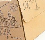 Réutiliser la caisse d'emballage de gâteau de papier ondulé de Brown/cadre de empaquetage