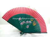 Vintage Chinese / Japanese Fans Wall Hanging Home Decor Bamboo Cloth Fan