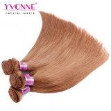 100%のペルーの毛の自然なRemyの人間の毛髪