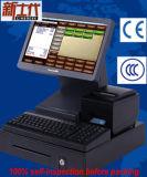 Registo de dinheiro Hz-9600 com tela de um toque de 15 polegadas a única