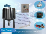 200liter Steam Heating Tank Conical Bottom Pasteurization Tank per Syrup