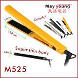 Straightener dourado de Styler do cabelo do diodo emissor de luz do revestimento cerâmico