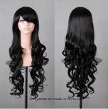 Perruques femelles de vente chaudes de cheveux de couleur originale multicolore longues
