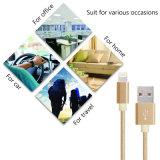 Sinc. de carga de 8 del Pin de la cuerda trenzada de nylon del USB datos del cable con el conector de aluminio para el iPhone