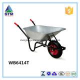 Preços de fábrica do carrinho de mão de roda da construção do metal de Wb6414t