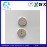 세탁물에서 이용된 RFID 꼬리표를 추적하는 모양 재사용할 수 있는 의류를 단추를 끼우십시오