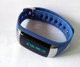 Silicone Bluetooth Smart Watch Bracelet con Heart Rate