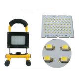 Lámpara recargable sin cuerda portable solar de la luz del trabajo del punto de la inundación de la luz de inundación de 54 LED LED para acampar al aire libre, trabajando, pesca impermeable, luz de la seguridad